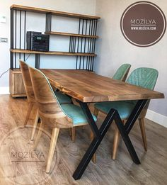Add privilege to your space with Solid Wood Furniture Models. Log Wood Table, Natural Organic Coffee Table, Bookcase and Tv Stand models are Mag . Natural Wood Table, Rustic Wooden Table, Solid Wood Table, Solid Wood Furniture, Wooden Tables, Furniture Design, Farmhouse Kitchen Tables, Wooden Kitchen, Dining Chairs