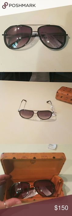 Mcm sunglasses Brand new with tags MCM aviator sunglasses. Black frames/ metal.   100% authentic.   Case, cloth and sunglasses. MCM Accessories Sunglasses