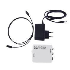 Tv óptica spdif/coaxial digital rca l/r analógica convertidor de salida de auriculares de la nueva llegada