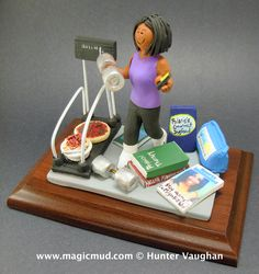 Physical Therapist Figurine Gift Personalized for Mom by www.magicmud.com 1 800 231 9814 creating a custom made gift figurine for Mother based on the things she likes to do! ...incorporating her work, sports, family, hobbies, food, drink, shopping, etc. $225 #mom #mother #momsgift #wife #christmas #birthday #anniversary #custom #personalized #xmas #present #award #ChristmasGift #BirthdayGift #sister #girlfriend #aunt #BFF #physicaltherapist