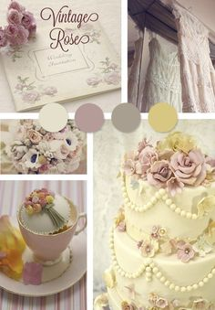 Vintage Rose wedding theme better for groom. Add shade of pink.