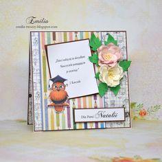 Emilia tworzy: Kartka dla nauczyciela/Card for teacher Teacher Cards, Namaste