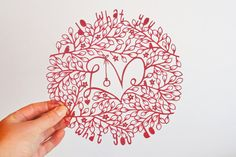 paper cut art, Do What You Love, inspiring sentiment, inspirational quote, deep red