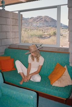 the 'Western Wide Palma'. Shot by in a Frank Lloyd Wright abode in AZ 🌵 🔸 Sunbathing in Arizona collection available now online 🔸