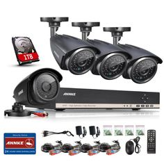 Was £449.98 > Now £159.99.  Save 64% off ANNKE 8-Channel 720P HD CCTV DVR Hybrid Recorder w/ 4x 1.30MP HD Security Camera System+1000GB Pre-installed Surveillance Hard Drive (Hi-resolution 1.30 Megapixels #3StarDeal, #Accessories, #Electronics, #MobilePhonesCommunication, #ReplacementParts, #Under250