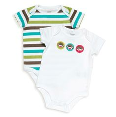 This is one of my favorites on totsy.com: Sock Monkey 2pc Boy Bodysuit
