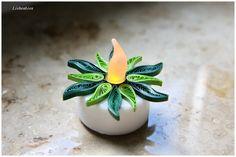 Quilling LED Teelichter Grüni von Liebeabies auf DaWanda.com