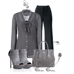 """""""Grey"""" by coco-cris-1 on Polyvore"""