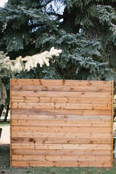 Creative Events Rustic Backdrop. Use this as a blank canvas! Add a floral swag or pictures for a personal touch.  Photo: Taylor Hillier Photography