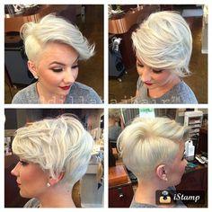 Bilderesultat for short female asymmetrical pixie edgy haircut