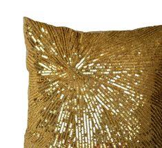 Gold Pillow Cover, Gold Decorative Pillows, Gold Glitter Sparkle Pillow, Gold Cushion, Gold Accent P Gold Accent Pillows, Gold Decorative Pillows, Glam Pillows, Sparkly Pillows, Decor Pillows, Couch Pillows, Duvet, Sequin Pillow, Geometric Pillow
