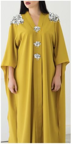FAAL Caftan YAID young Arab independent designer Hijab Mode, Mode Abaya, Long African Dresses, Latest African Fashion Dresses, Arab Fashion, Muslim Fashion, Moslem, Hijab Stile, Chic Outfits