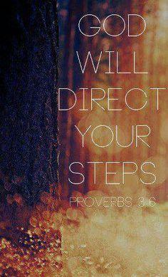 God directs my path