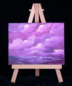 Ocean  33  original  miniature  oil painting 3x4  by valdasfineart
