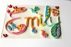 Baby Shower Gift , Baby Name Art , Baby name sign , Custom Quilled Name Art