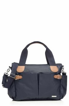 Storksak Kay Changing Bag in Navy. Storksak Baby Changing Bags from Mummy and Little Me Large Diaper Bags, Baby Diaper Bags, Diaper Bag Backpack, Baby Changing Bags, Fab Bag, Black Satchel, Bottle Bag, Satchel Handbags, Bleu Marine