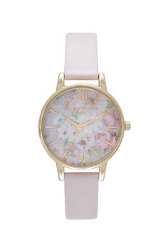 **Olivia Burton Flower Show Blush and Gold Watch
