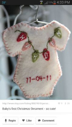 Baby Christmas ornament