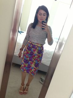 Business casual.. J crew top, F21 skirt & shoes :)