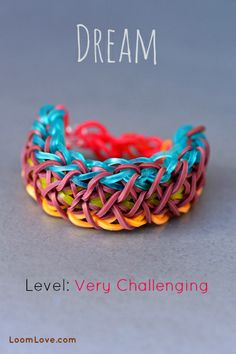Dream Rainbow Loom Bracelet Video Tutorial
