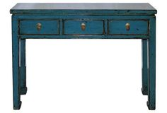 Beijing Blue Console Table
