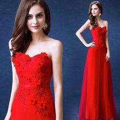 Red Lace bride wedding Dress/ Mint Sweetheart Dress. 3D Draping Pierced beauty back Lace thin belt 100% Pure Hand-sewn   Back Design: Zipper