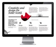 SmartHeart website on Behance
