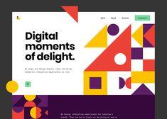 Web Design, Website Design Layout, App Ui Design, Web Layout, User Interface Design, Website Designs, Flat Design, Wireframe Web, Geometric Logo