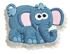 Kids Cakes - Cute Elephant made the Wilton Elephant Cake Pan