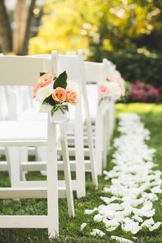 Example accents on chairs that could be used later at reception (not colors but look)