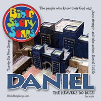Twenty-six new songs from the Book of Daniel. Over 60 minutes long, lyrics included in cd stuffer. Sing about Daniel and his three companions choosing not to eat the king's food, being cast into the firey furnace for not bowing down to the giant idol of the king, God humbling King Nebuchadnezzar, the hand writing on the wall during King Belshazzar's last party, and Daniel being cast into the lion's den because of his faithful prayer.