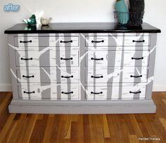 Painted dresser from http://paintedtherapy.blogspot.com/2013/01/meet-nathanial-dresserbuffetconsole.html