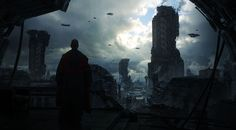 Matte Painting: 'industrial Monks' by Dylan Cole