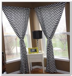 Black And White Chevron Curtains Transform Your Ordinary Room Wonderful
