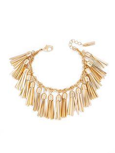 gold tassel bracelet #NEED