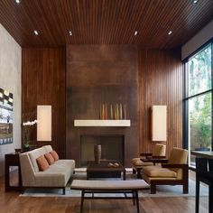 A beautiful example of a modern style living room.  Pinned by Pete Pascuzzi Realtor  www.petepascuzzi.com