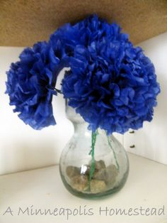 Oh You Crafty Gal: How to Make Paper Flowers, Tissue Flowers Tutorial