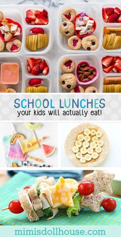 Back to School School Lunches Your Kids Will Actually Eat. Need some quick and easy back to school &; Back to School School Lunches Your Kids Will Actually Eat. Need some quick and easy back to school &; makeup […] lunch for picky eaters Kids Lunch For School, Healthy Lunches For Kids, Healthy School Lunches, Kids Meals, School School, School Hacks, School Teacher, Summer Lunches, Cheap School Lunches