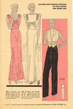 Simplicity Summer Fashions 1933 featuring Simplicity 1203, 1206 and 1210