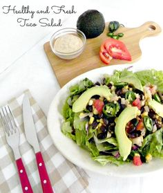Fresh Taco Salad - this taco salad is quick, easy and healthy.