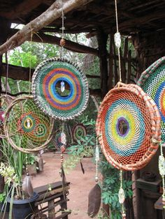 Inspiration- Rainbow Dream Catchers - Click image to find more Design Pinterest pins