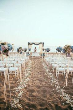 Seaside Wedding Ceremony — On here — www.StyleMePretty… Photography: P… Seaside Wedding Ceremony — On here — www. Wedding Ceremony Ideas, Beach Wedding Reception, Seaside Wedding, Magical Wedding, Perfect Wedding, Beach Weddings, Destination Weddings, Summer Wedding, Elegant Wedding