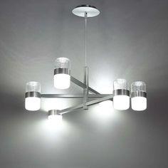 6 Light / Brushed Aluminum Illuminated