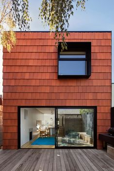 Tiles making an impact as statement exteriors - Better Building Daily Roof Cladding, House Cladding, Exterior Cladding, Facade House, Wall Exterior, Building Exterior, Facade Architecture, Residential Architecture, External Wall Cladding