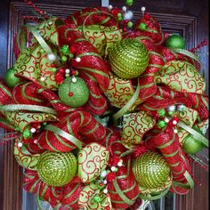 Love how full and colorful this wreath is. Reminds me of Whoville.