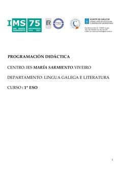 Síntese da programación 1º ESO by IES MARÍA SARMIENTO via slideshare