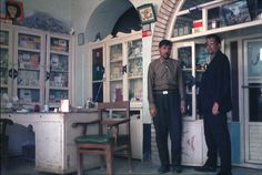 Inside an Afgan pharmacy consultation area (1969). Great h/t to @wickerpharm
