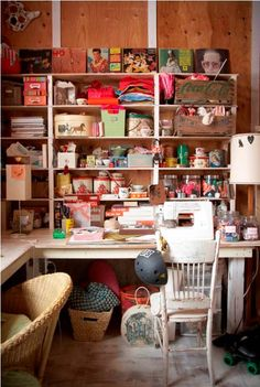 Vintage Craft Room... I would love one of these...