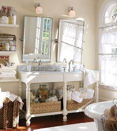 Pretty/Cluttered Bath