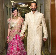 Indian Cricketer Shikhar Dhawan Wife Ayesha Mukherjee ~ Mere Pix
